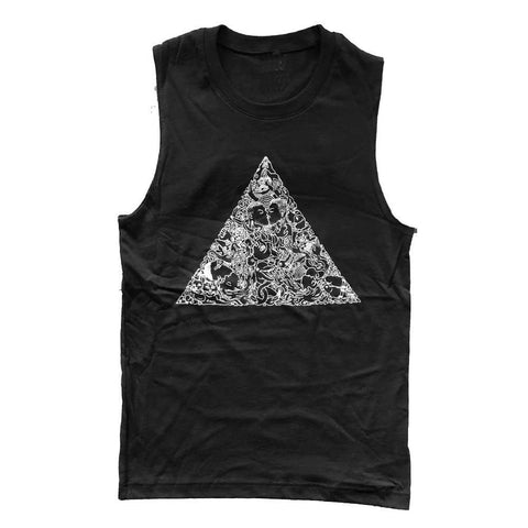 Brian Kenny Love Triangle Sleeveless T-Shirt supporting the Trevor Project adam's nest provincetown