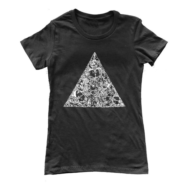 Brian Kenny Love Triangle Women's T-Shirt supporting the Trevor Project black