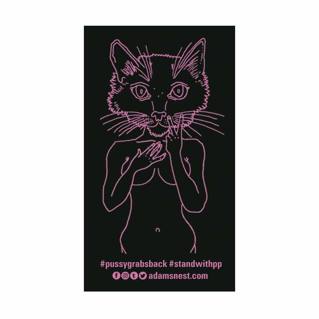 Brian Kenny Pink Pussycat Sticker supporting Planned Parenthood