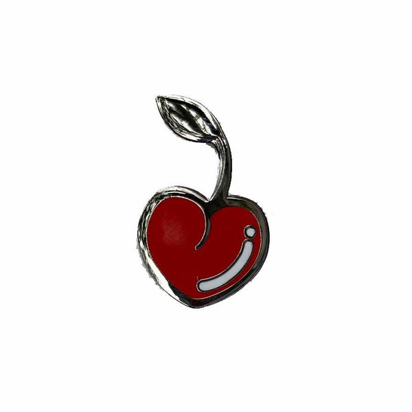 cherry enamel lapel pin