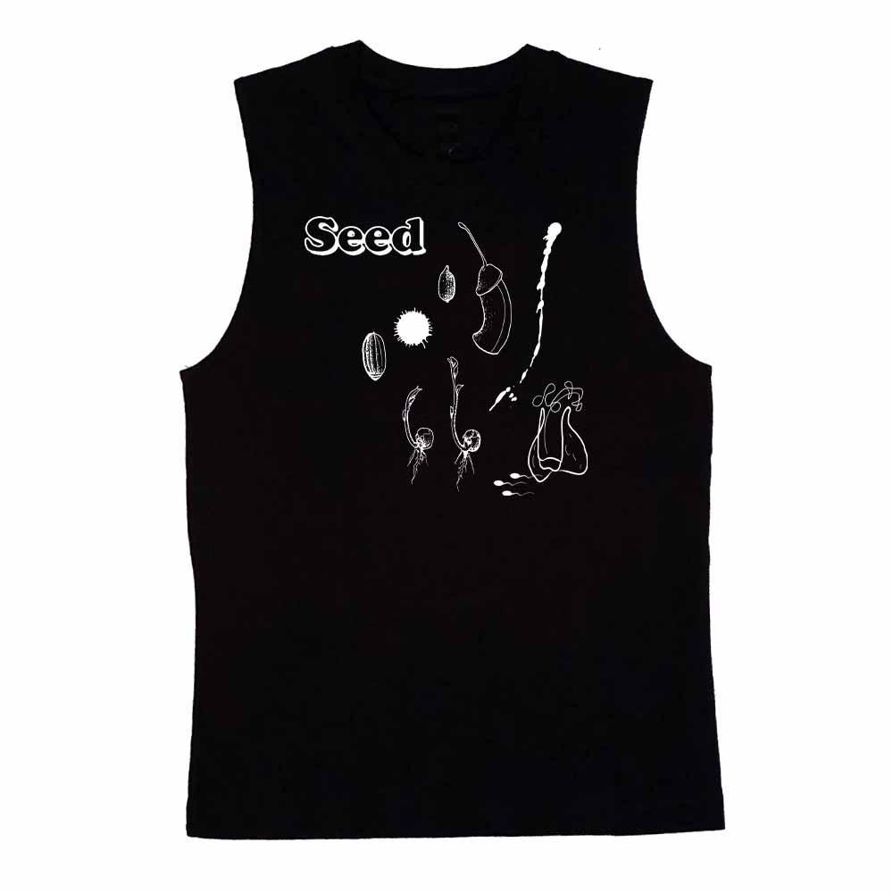 Seed sleeveless T-shirt collaboration with Lord Tattoo black