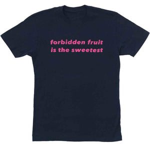 forbidden fruit is the sweetest t-shirt adams nest midnight navy flat