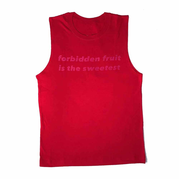 Forbidden Fruit Is Sweetest Sleeveless t-shirt red