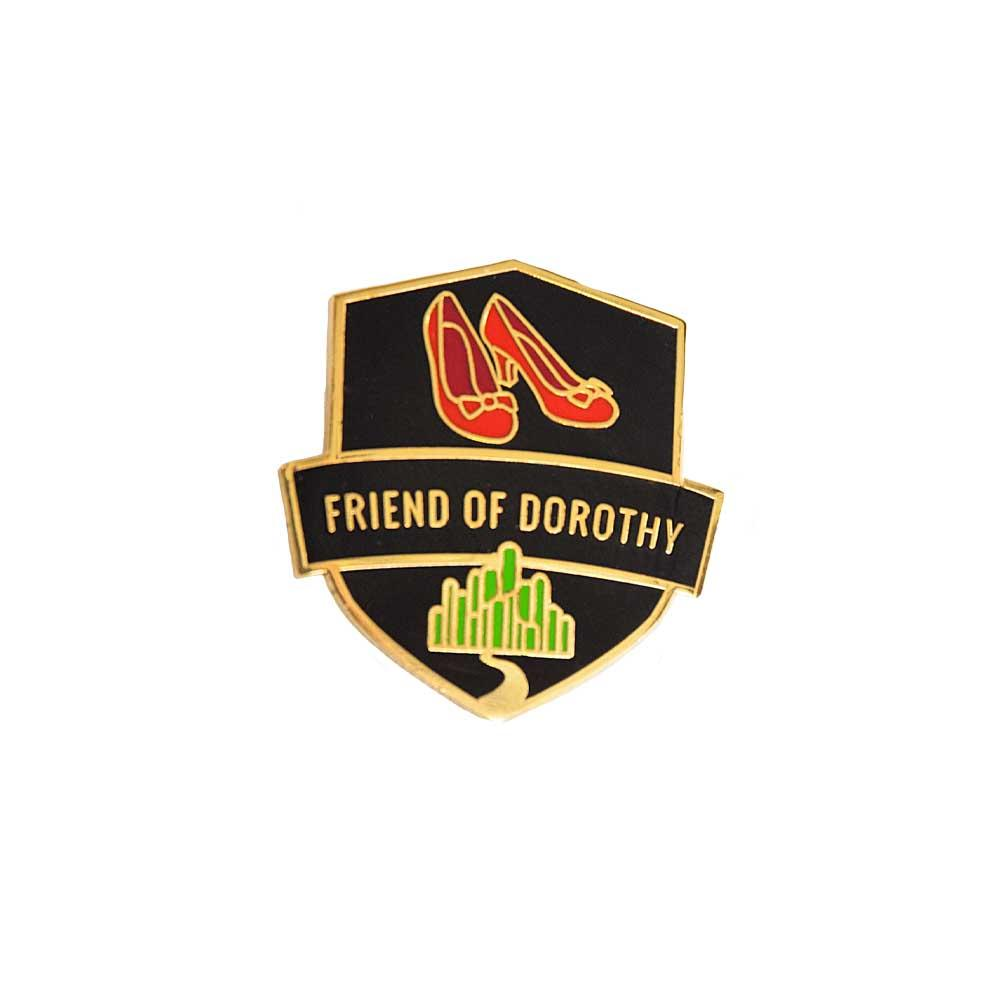 Friend of dorothy enamel lapel pin gaypin' guys