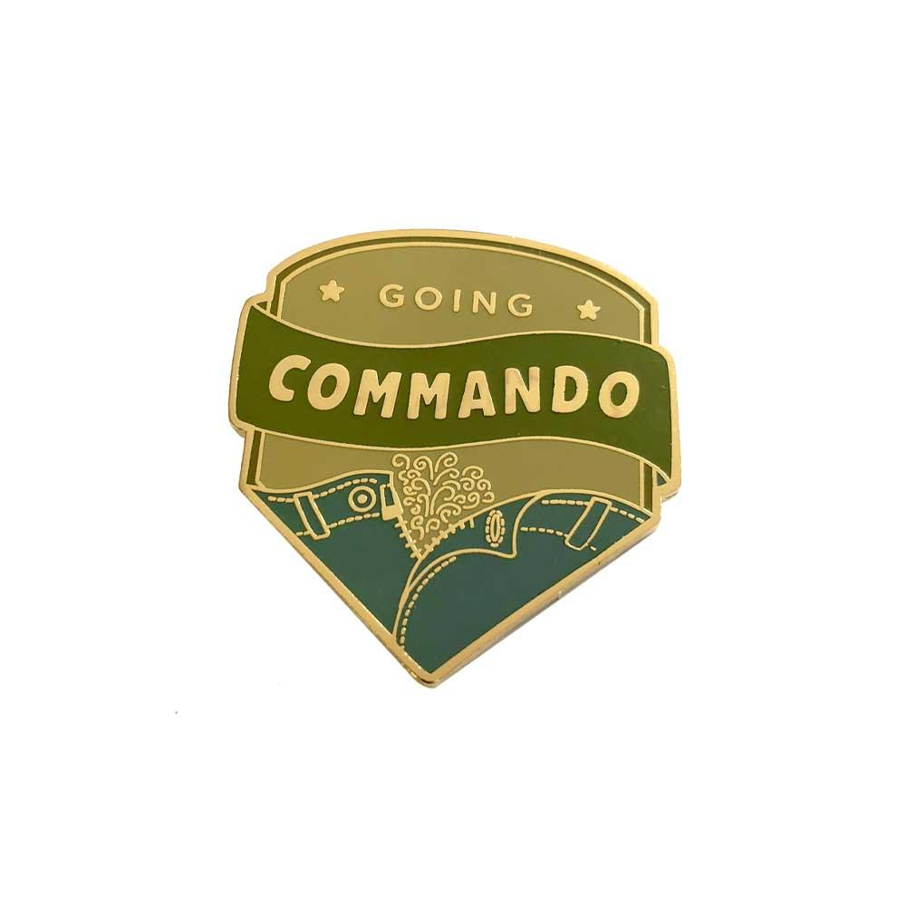 Going Commando Enamel Lapel Pin Gaypin' Guys