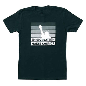 kelly holohan immigration t-shirt raices adams nest flat forest green