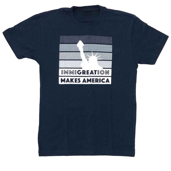 kelly holohan immigration t-shirt raices adams nest flat midnight navy