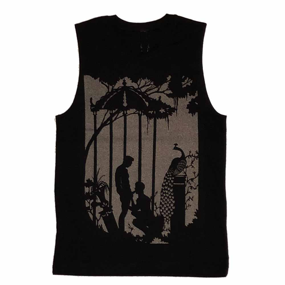Adam's Nest + Kinky Needles Peacock Fellatio Sleeveless T-shirt