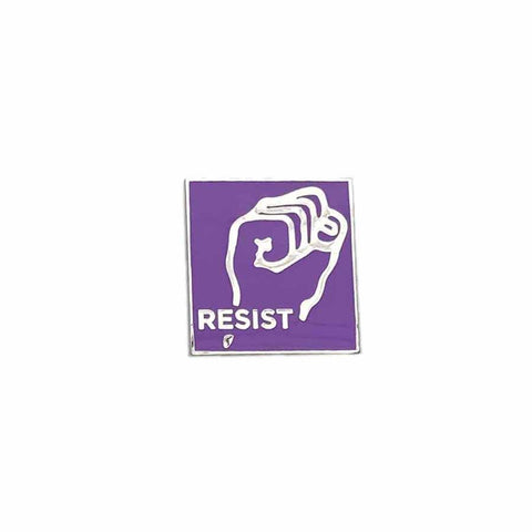 lavender menace solidarity fist enamel pin