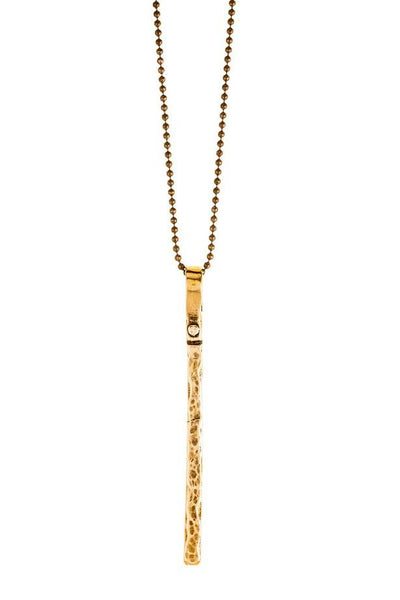 Long Bar Necklace - bronze