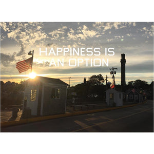 Happiness Is An Option - MacMillan Pier Postcard