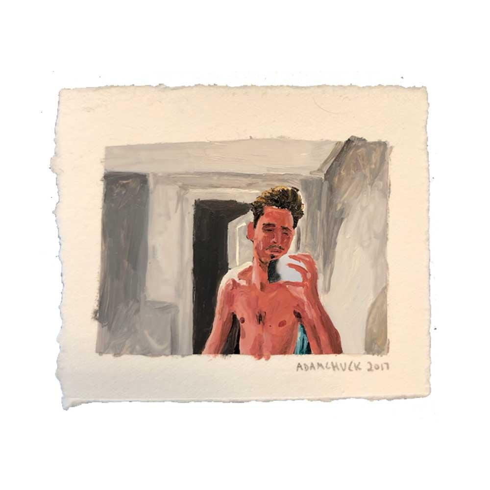 Matt in Mirror Adam Chuck Original Painting