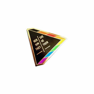 Preferred pronouns hard enamel lapel pin