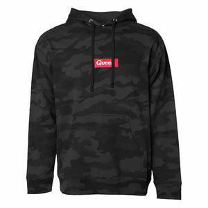 Queer Pullover Camo Hooded Sweatshirt