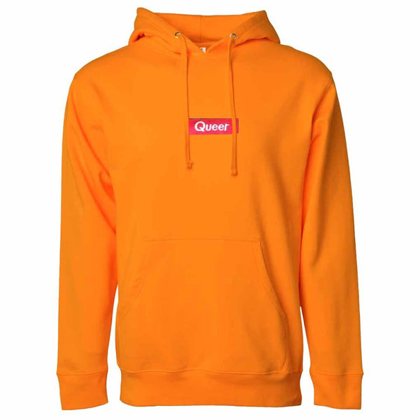 Queer Pullover Hooded Sweatshirt Safety Orange