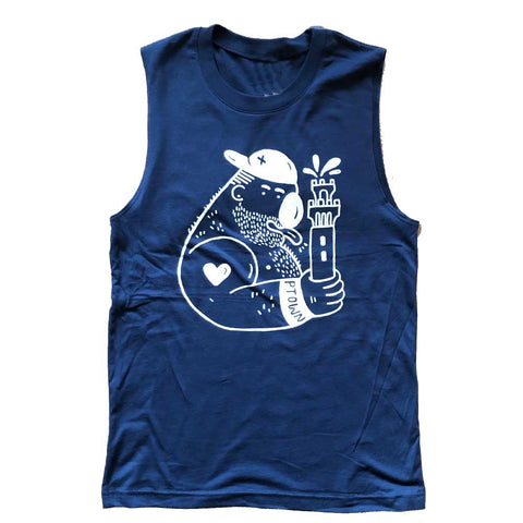 Radriguez Ptown Monument Sleeveless T-shirt navy