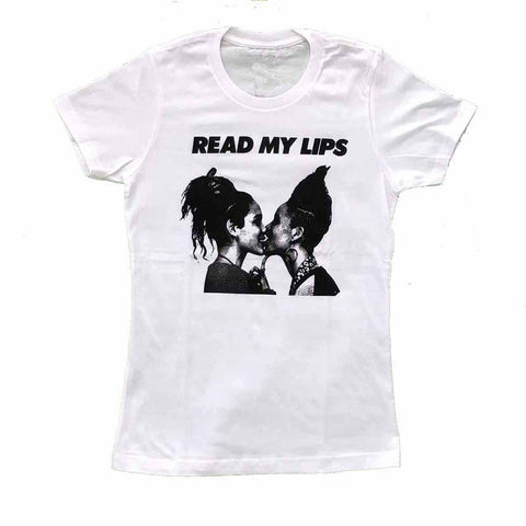 Read My Lips Gran Fury Women's Fit T-shirt lola flash  julie tolentino Rainbow Railroad