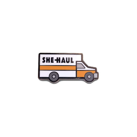 she-haul enamel lapel pin gaypin' guys
