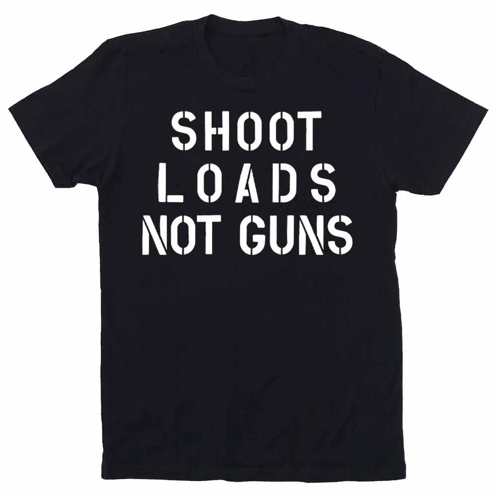 shoot loads not guns black gays against guns t-shirt adams nest