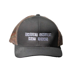 Shoot Loads Not Guns Break Up Country Black Trucker Mesh Snapback Hat Gays Against Guns