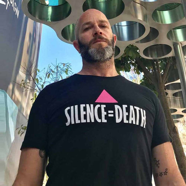 silence equals death t shirt ali forney center act up adams nest provincetown adam singer