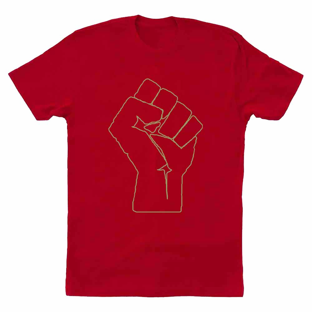 Solidarity Fist T-shirt supporting DSA - SHIPS LATE APRIL