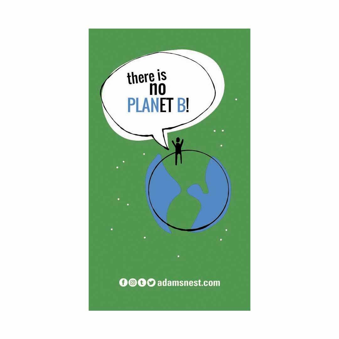 there is no planet b greenpeace sticker
