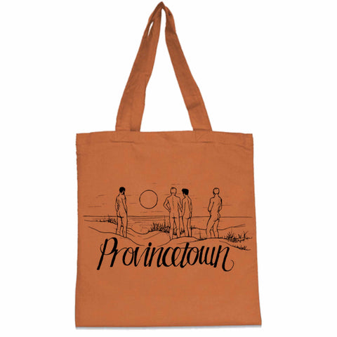 provincetown dune souvenir orange tote bag