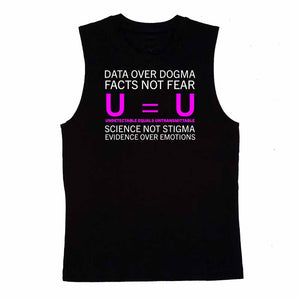 u equals u sleeveless t-shirt #uequalsu