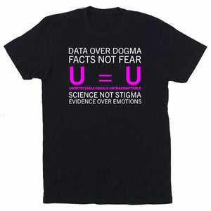 u equals u undetectable = untransmittable t-shirt