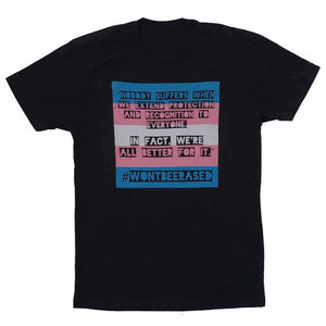 #WONTBEERASED Unisex T-shirt Trevor Project PFLAG OKC