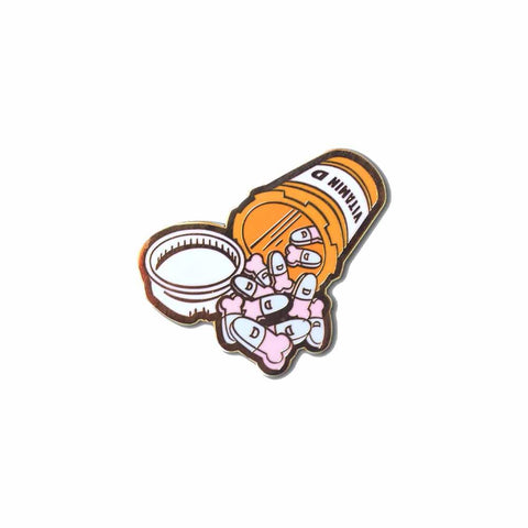 Vitamin D enamel lapel pin