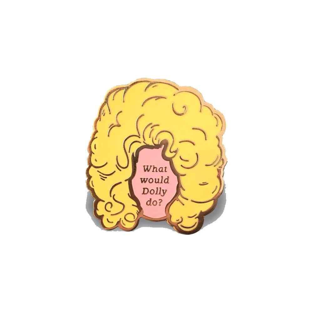 What would dolly do enamel lapel pin gaypin' guys
