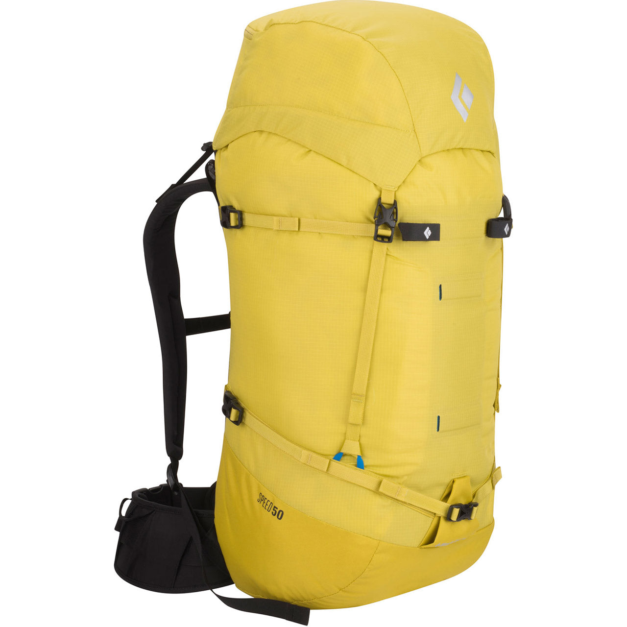 Black Diamond Speed 50 Mountaineering Pack Front Sulfur