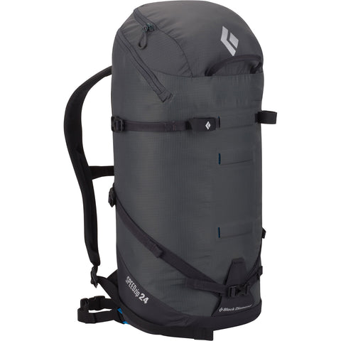 Black Diamond Speed Zip 24 Mountaineering Backpack Graphite Front