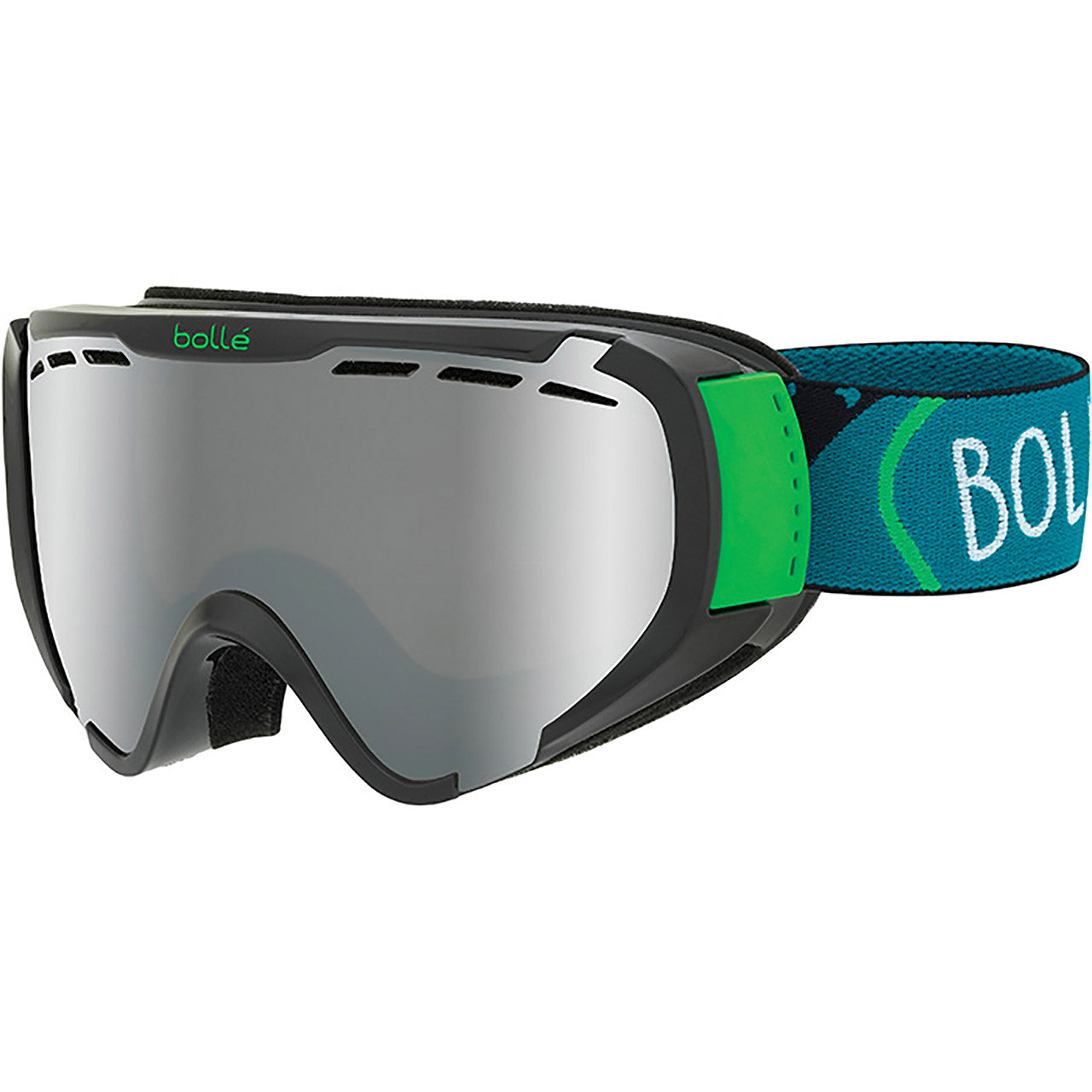Bolle Explorer Kid's Snow Goggle Black With Black Charcoal Lens