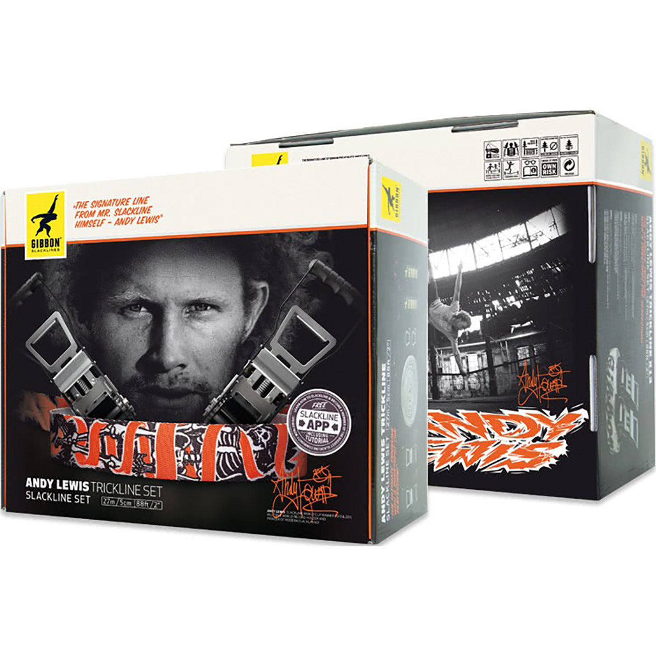 Gibbon Andy Lewis Trickline Signature Slackline Set Box