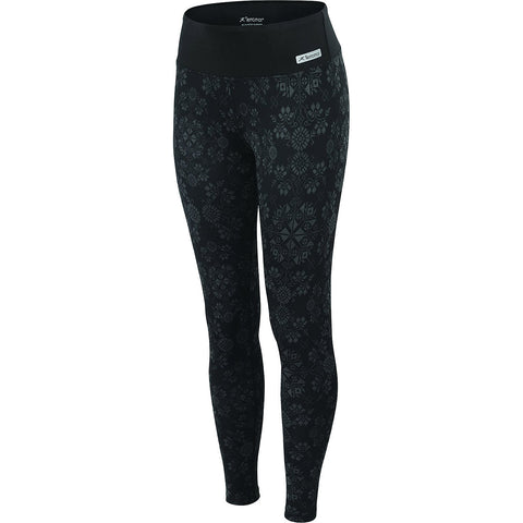 Terramar Cloud Nine Women's Baselayer Pant Black Alpine Print