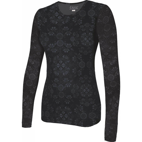 Terramar Cloud Nine Women's Baselayer Top Alpine Print