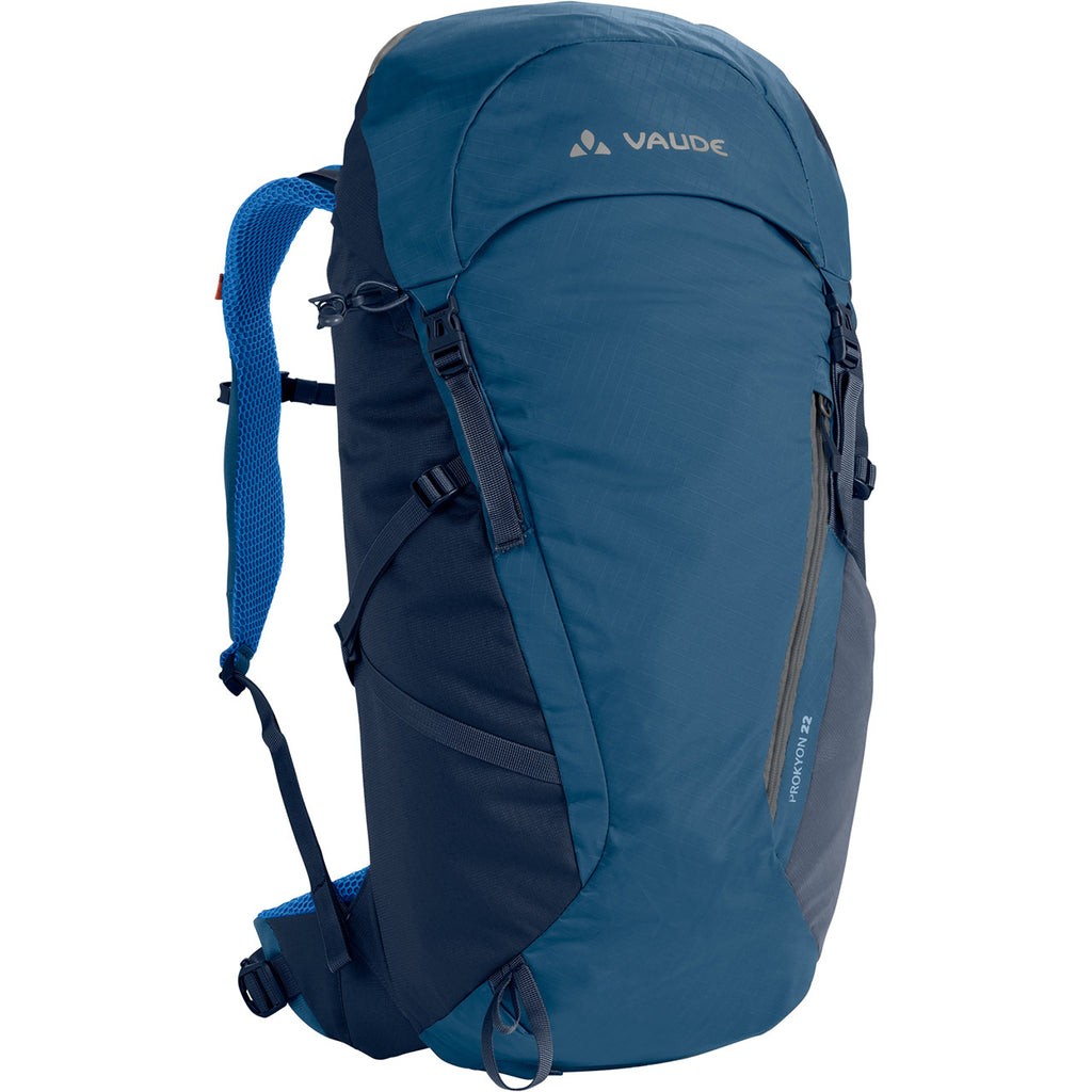 Vaude Prokyon 22-Liter Men's Mountaineering Backpack Washed Blue Front