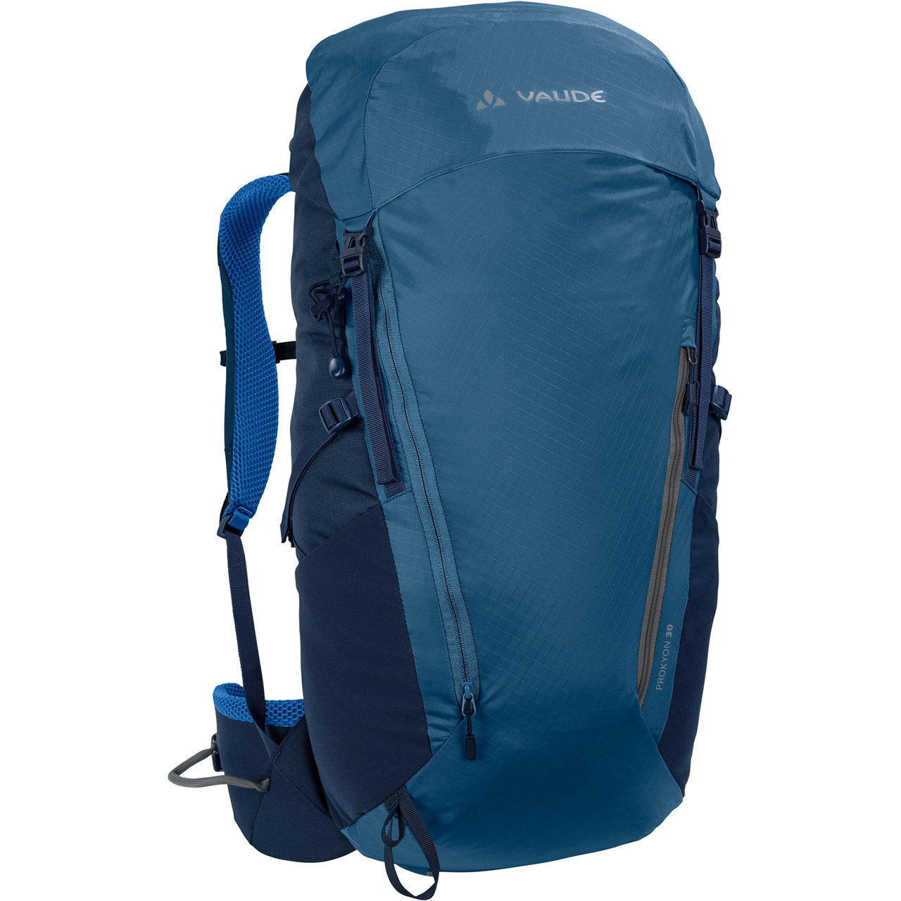 Vaude Prokyon 30-Liter Men's Mountaineering Backpack Washed Blue Front