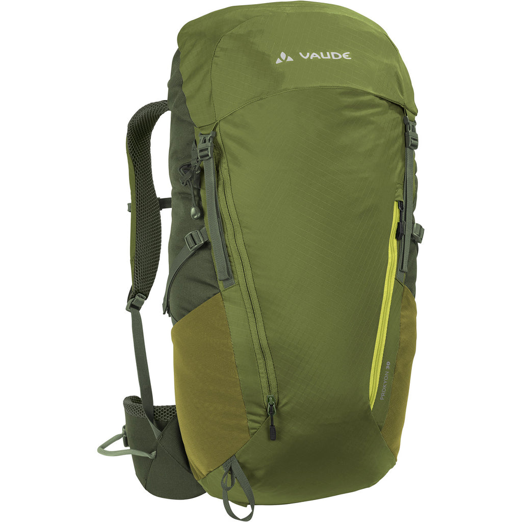 Vaude Prokyon 30-Liter Men's Mountaineering Backpack Holly Green Front