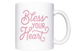 Bless Your Heart Texas Coffee Mug Dark Pink Design 11 oz Mug - MSRP $10.99