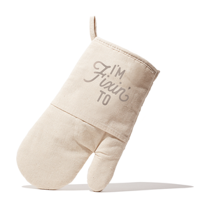 Texas Oven Mitt with I'm Fixin' To Design in Natural Quilted Cotton - MSRP $12.99