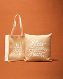 Texas Tote Bag in Burlap and Canvas with Texas Design Texas Gift - MSRP $29.99