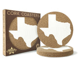 Texas Cork Coasters 3.5 Inch Coasters - Set of 4 - MSRP $10.99