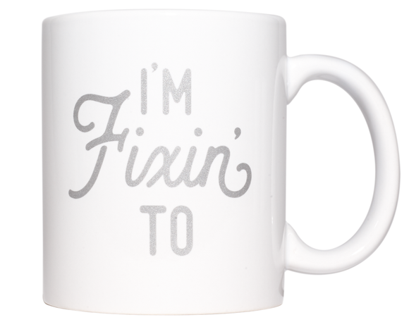Texas Coffee Mug I'm Fixin' To Silver Design 11 oz Mug - MSRP $10.99