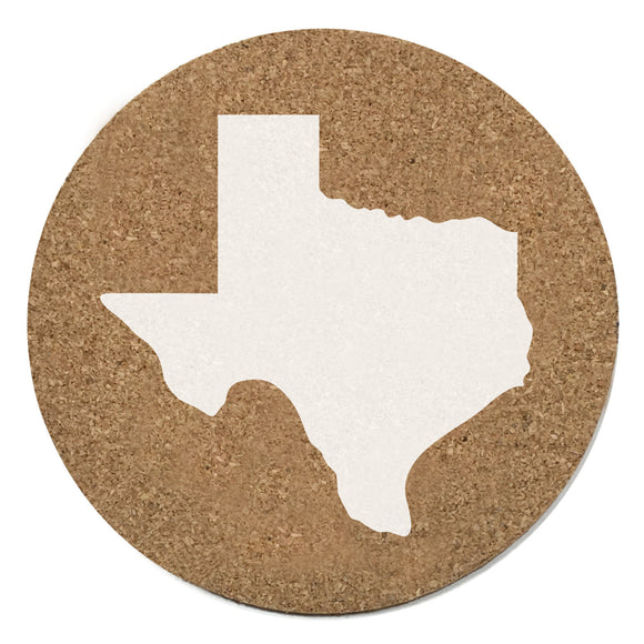 Texas Cork Coasters 3.5 Inch Coasters - Set of 4