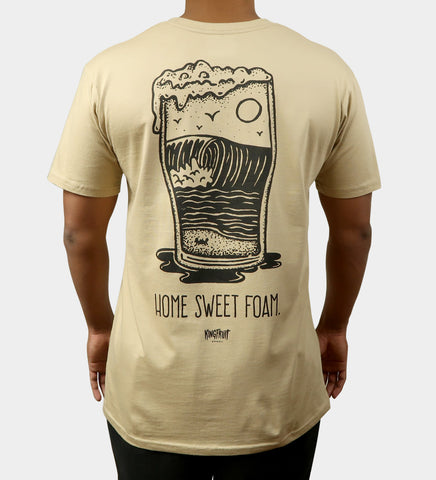 Home Sweet Foam Tee - Tan (SMALL ONLY)
