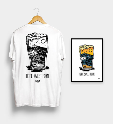 Home Sweet Foam (White) - Tee & Print